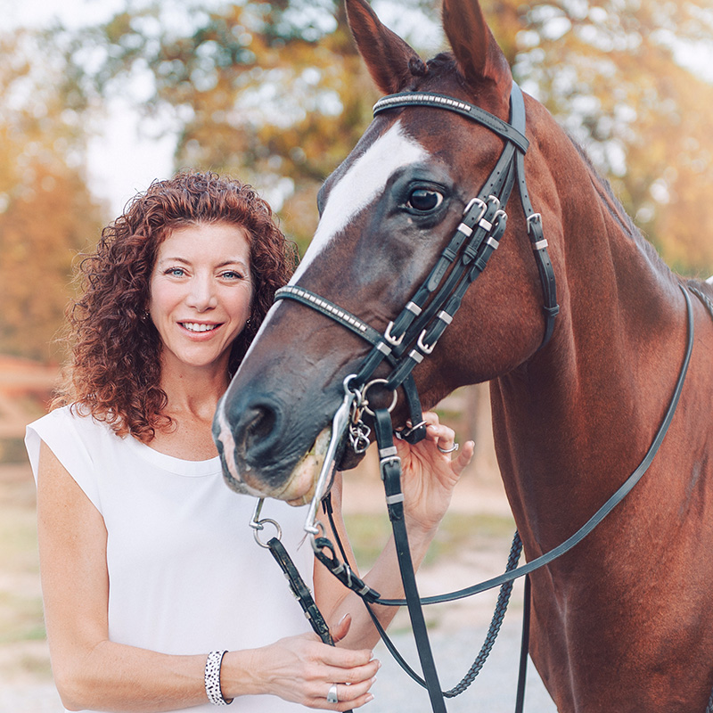 Lisa Giovanniello with her horse